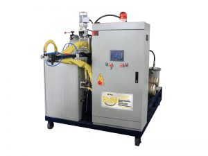 Polyurethane elastomer pouring machine